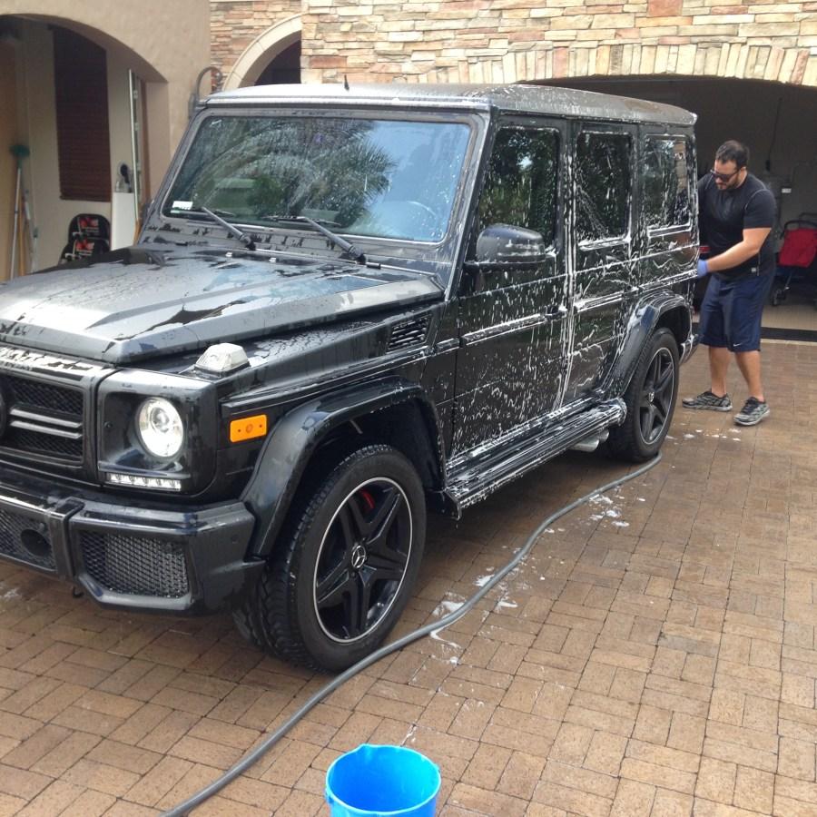 Wash, Wax, Interior, Claybar on an SUV