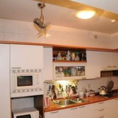 Kitchen Ceiling Fan Mission Style Cabinets 分享 Vento芬朵吊扇fino 安裝與使用心得 Part 2 居家房事消費經驗 再看一下用這台fino配義式廚房的fu