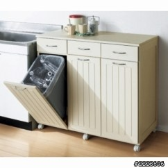 Kitchen Trash Bin Purple Cabinets 廚房的廚餘與垃圾桶 有沒什麼有創意規劃或設計 第2頁 空間設計與 把垃圾桶安置在廚房外陽台用現成櫥櫃或是推車方式隔一道門 幾步路 煮飯要倒垃圾時候 再把垃圾桶推進來
