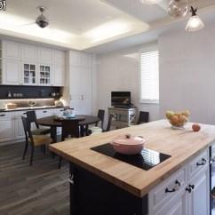 Kitchen Ceiling Fan Black Granite Sink 開箱 白色實木廚房 空間設計與裝潢 居家討論區 Mobile01 吊扇真的很好用 木紋磚不用常常拖地 待在廚房時間比客廳多