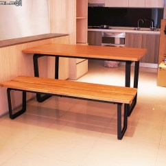 Bench For Kitchen Table Gray Tile Floor 簡約開箱 餐桌 長凳椅進門 空間設計與裝潢 居家討論區 Mobile01 簡單跟大家分享新家 裝潢大致好了 家具陸續進來去看過這個新興品牌的實品 做工質感都沒甚麼好挑剔的 我們也很喜歡簡約的設計風格餐桌材質是櫻桃木 長凳材質是紅