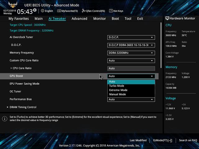 請問一下。AMD2400G+華碩B350-PLUS。要怎樣把內顯升級到2GB - Mobile01