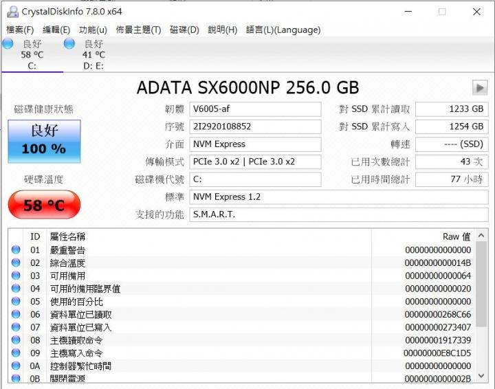 Asus FX504GE M.2 PCIE SSD 溫度 - Mobile01