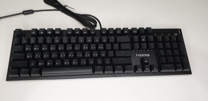 [開箱]類青軸手感的防潑水薄膜式鍵盤 i-rocks K64E By 沁凱 - Mobile01