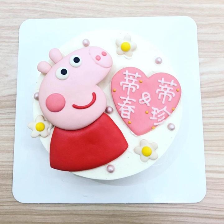 佩佩豬客製化生日蛋糕推薦開箱,粉紅豬小妹喬治豬卡通造型蛋糕   媽咪拜MamiBuy