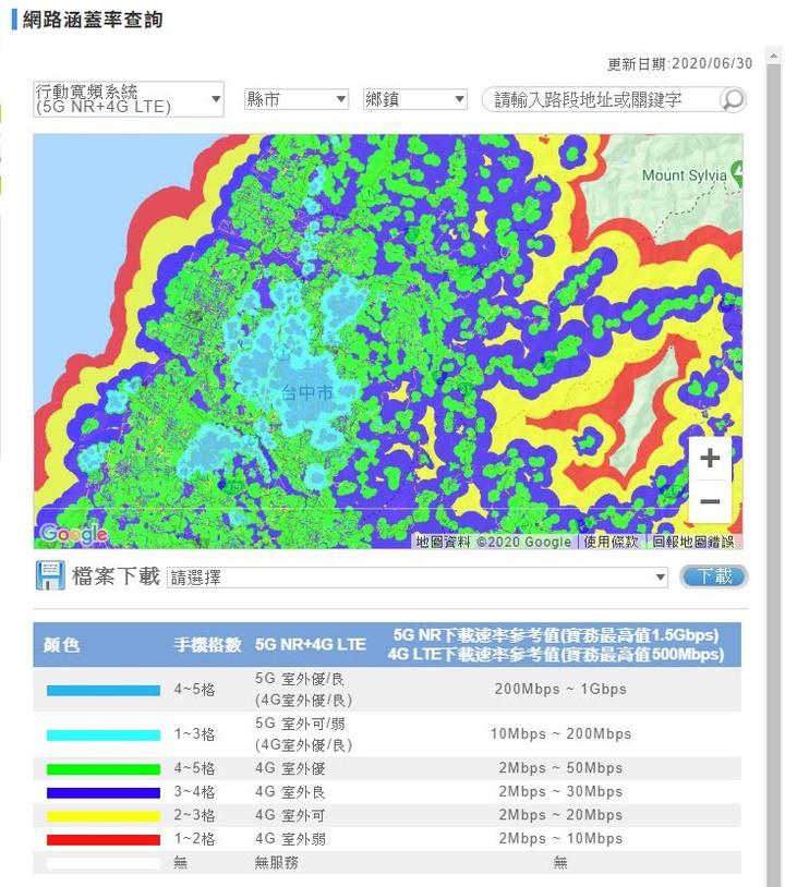 中華電信5G 訊號 網路分佈涵蓋圖 - Mobile01