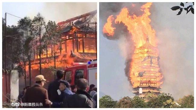 [新聞] 四川靈官樓大火 燒毀300年亞洲第一高塔 - terievv板 - Disp BBS