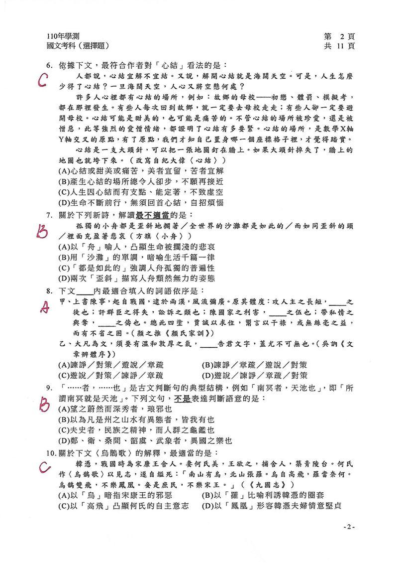 110學測/快來對答案!「國文試題」補習班老師解答出爐 | 生活 | 三立新聞網 SETN.COM