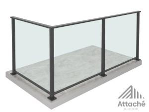Framed glass balustrade floor view Attache New Zealand