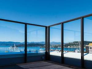 Wellington glass balustrade frame apartments