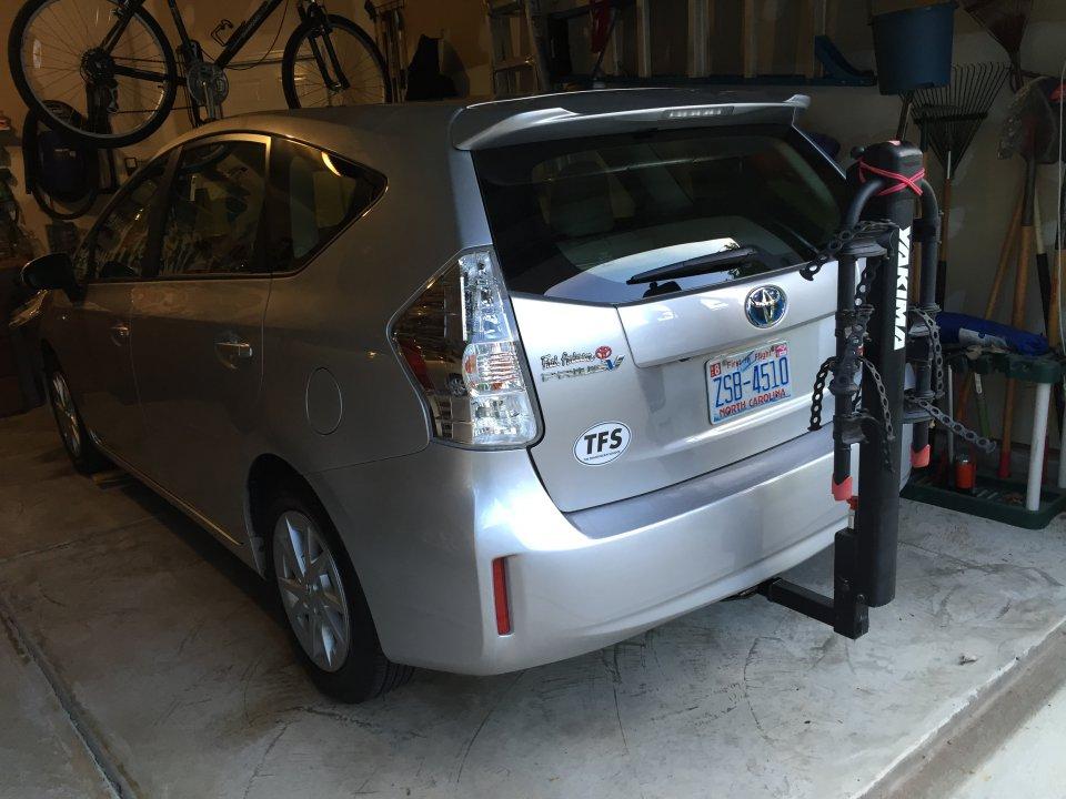 Bike rack for Prius v