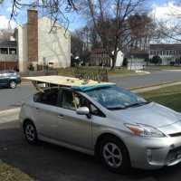 DIY roof rack for carrying 4'x8' wood sheets or 8' lumber ...