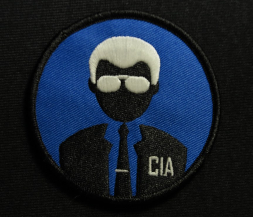 BADGER HOUND SUPPLY GLOW IN THE DARK CIA AGENT PATCH 3