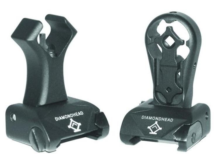 diamdonhead sights hole shot intergrated sighting system diamondhead buis back up iron sights. 1