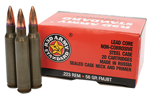 century arms Red Army Standard 223 Remington Ammo 56 Grain FMJ Steel Case TSAM2424 AM2424 78745043178 2