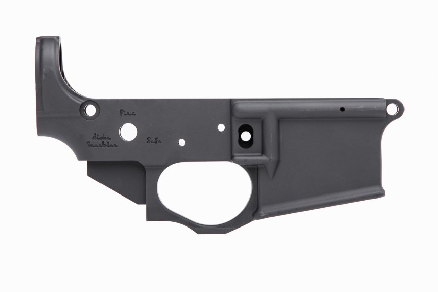 spikes tactical ar15 stripped lower receiver stls032 pineapple grenade lower reciever 1