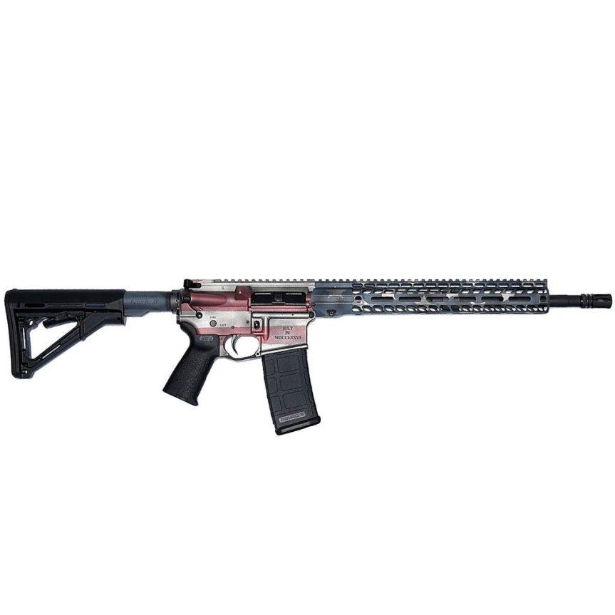 stag 15 ar15 american flag ar15 rifle cerakote custom ar15 stag15 indpendence rifle 1