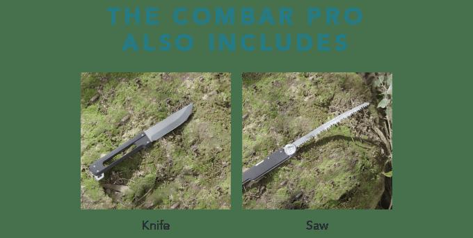 combar heavy duty multi tool. bushcraft multi tool axe shovel combo titanium edc prepper multi tool 5
