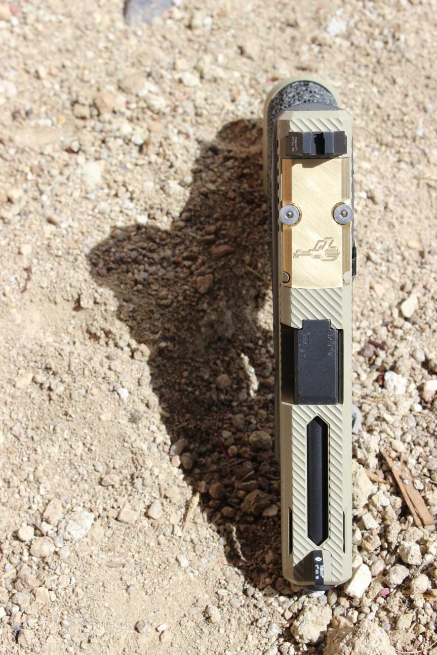 griffworx custom glock slide anodized slide glock rainbow