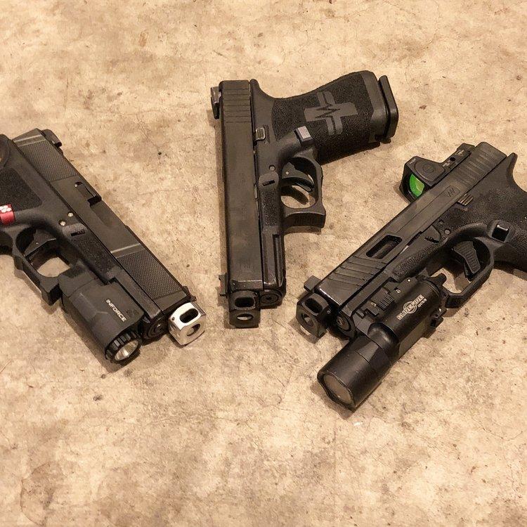 mayhem sydicate carry compensator system glock compensator for carrying a pistol small glock comp glock 19 custom glock 17 glock 26 gen 5 glock 2.jpg