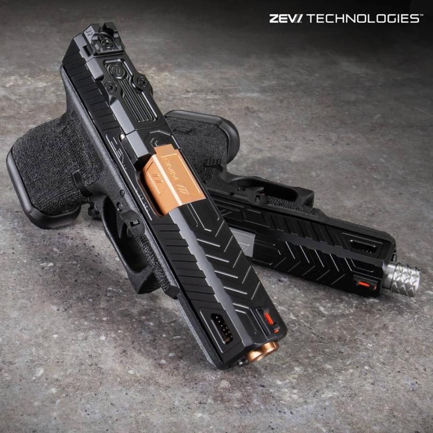 zev techonolgies glock slide. Raven glock slide. custom glock slide. slide serrations. 1