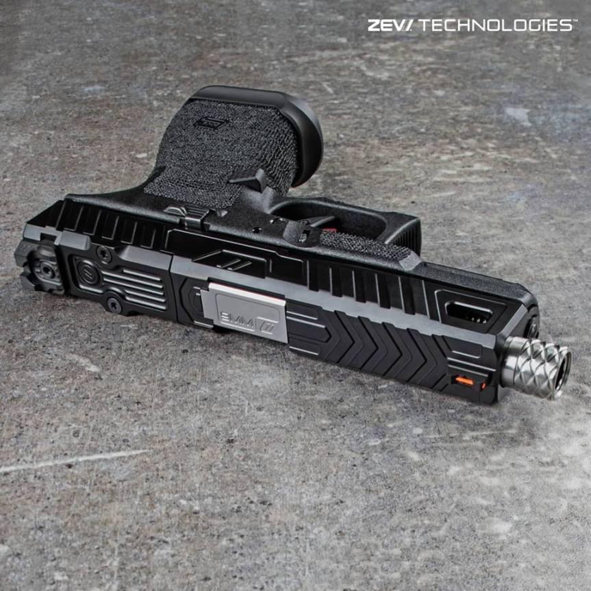 zev techonolgies glock slide. Raven glock slide. custom glock slide. slide serrations. 3