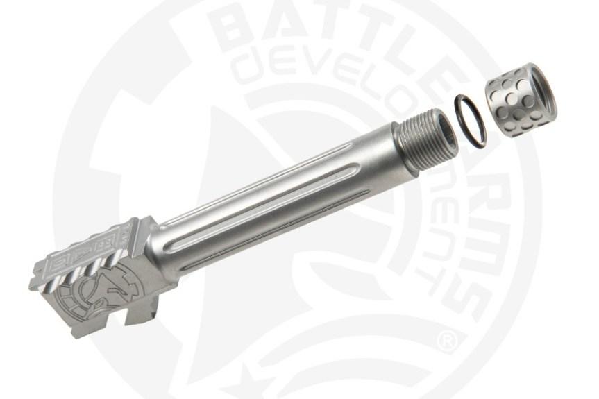 battle arms development one 1 glock barrel. custom glock barrel threaded glock barrel BAD-BBLG19SSFT 2