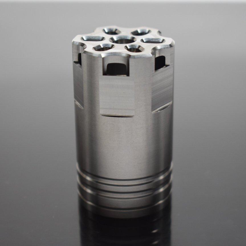 venom defense linear compensator titanium compensator titanium muzzle brake 9mm muzzle device ar15 titanium ar10 titanium black rifle ak47  2.jpg