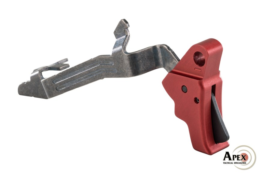 apex tactical red glock trigger action enhancement trigger gen 5 trigger glock custom trigger 102-156 2