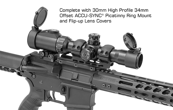 leapers utg bg4 reticle 1-8x28 30mm MRC scope sniper scope black rifle ar15 ar-15 attackcopter SCP3-18IEBG4 8