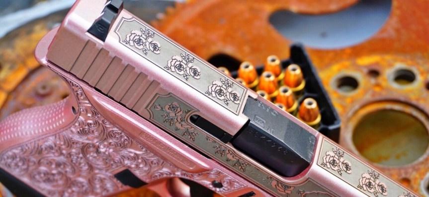 Shark coast tatical pink glock n roses girly glock pink gun pink pistol pink rifle princess pistol attackcopter 2