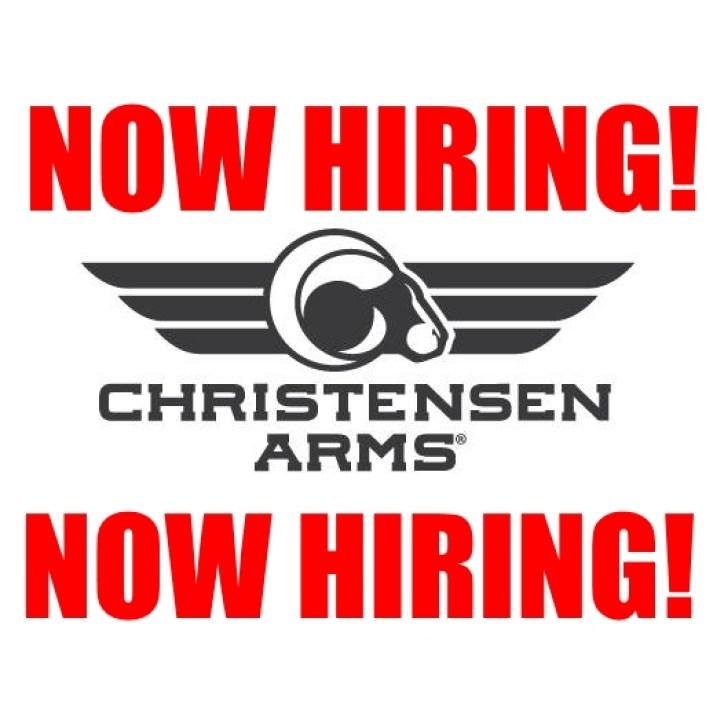 christensen arms now hiring firearms job gun employment