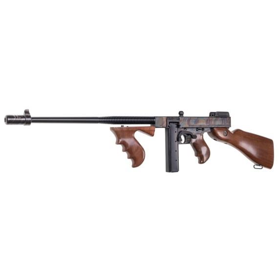 thompson auto ordnance 1927a-1 thompson rifle tommy gun deluxe carbine 45 cal case hardened rainbow finish gangster gun
