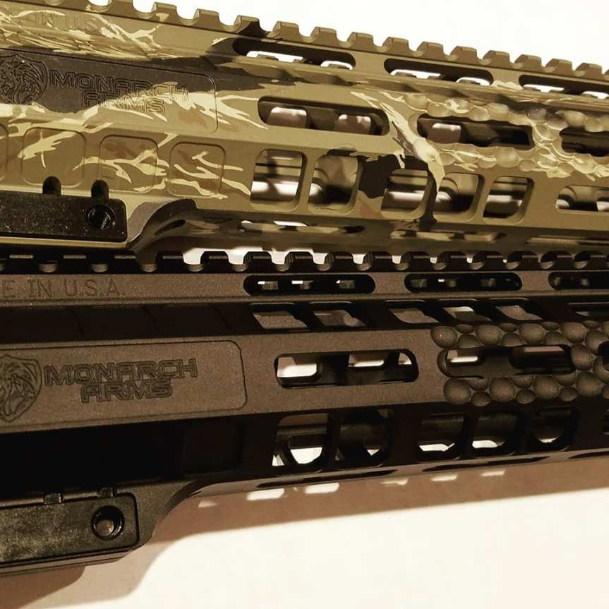 Monarch arms b.i.t. handguards dimpled ar15 forends mlok rails for the ar15 3
