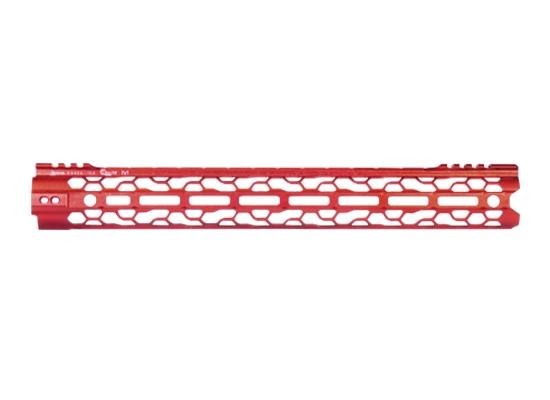 odin works red anodized ar15 handguards red ragna rail MLOK red 92 lite ar15 rails 1