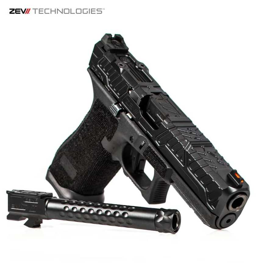zev technologies glock 17 gen 5 threaded barrel match grade gen 5 barrels BBL-17-V2-5G-DLC 2
