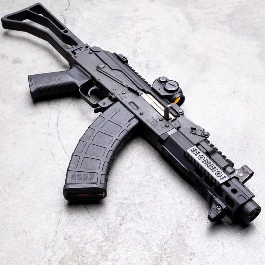 slr rifleworks 6.5 mlok ion ak ext handguards aluminum forend ak47 draco pistol with mlok forend tuck under 1.jpg