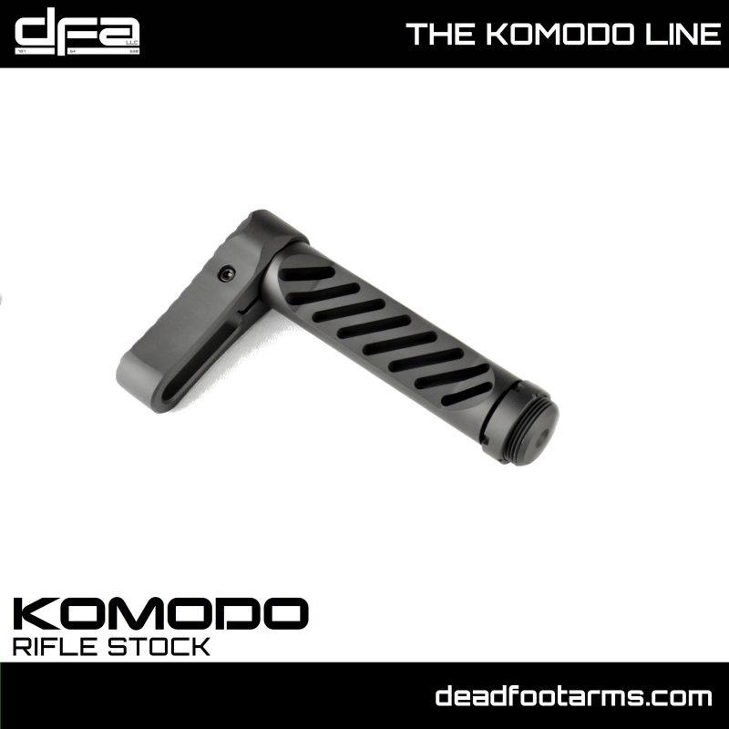 dead foot arms komodo tail hook adapter gear head works tail hook pistol brace onto buffer tube 6