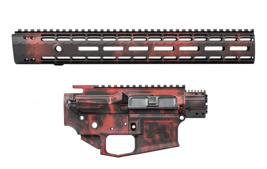 aero precision crimson embers anodized builders sets receiver sets for ar15 dual anodized finish. flame rifle 2.jpg