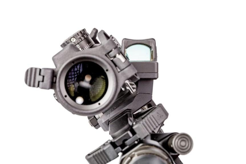 arisaka defense offset optic mount arisaka modular offset optic mount 45 degree rmr redot on the picatinny rail at 35 degrees 1