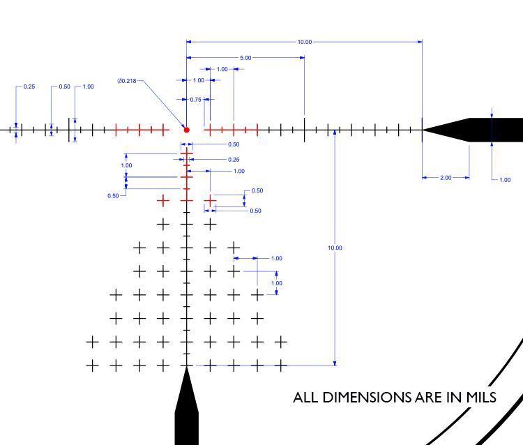 atibal optics atibal xs 1-10x30 SFD rifle scope second focal plane 4