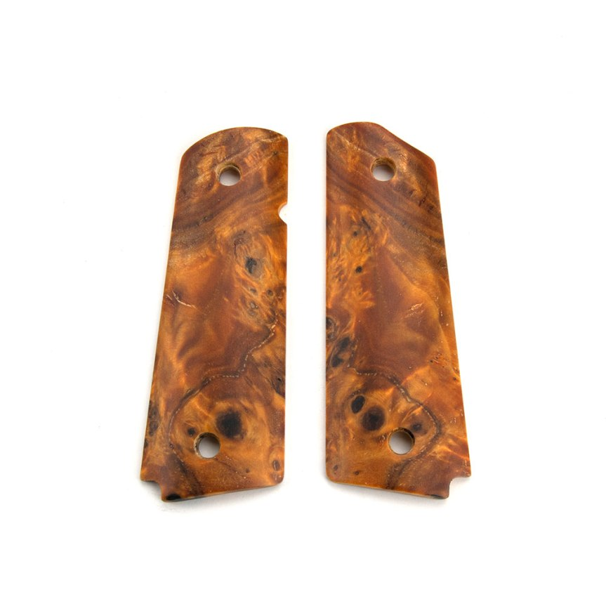 ed brown products poplar burl 1911 grips 45-POPL fine wood custom 1911 grip panels 3