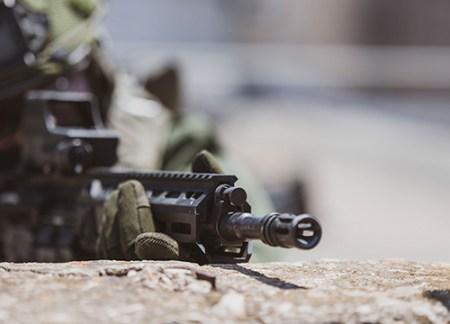 iwi arad modular battle rifle short stroke piston ar15 556 rifle polymer magazines modular design interchangeable ar parts