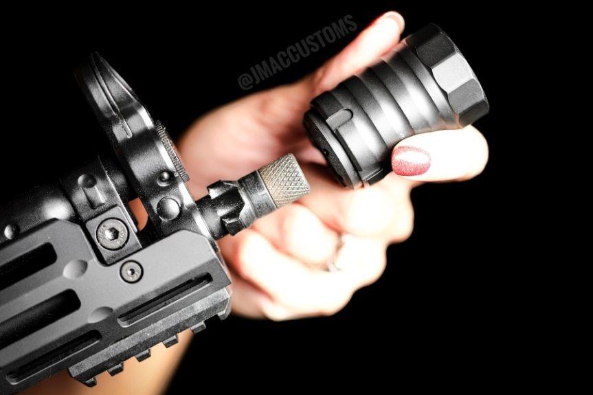 jmac customs bds-x12 blast diversion shield redirector muzzle brake for silencer co shield for griffin armament muzzle brakes 4