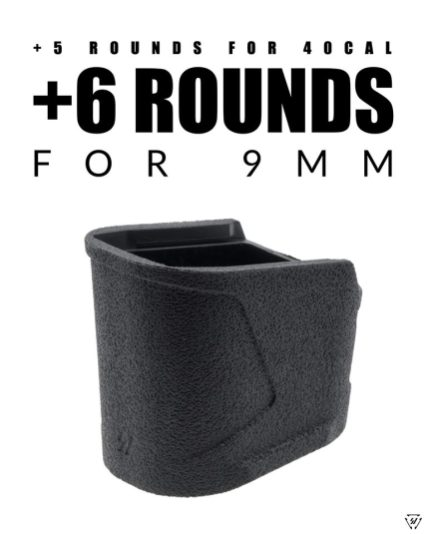 strike industries SI-EMP-MP9&40-BK emp mp 9 40 extended magazine base plates for sw mp 9mm 40sw plus magazine extensions