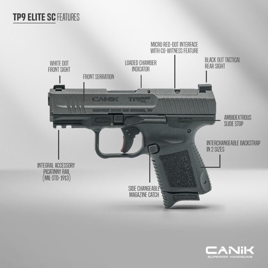 canik TP9 Elite sc pistol 9mm conceal carry sub compact double stack 9mm canik usa  5.jpg