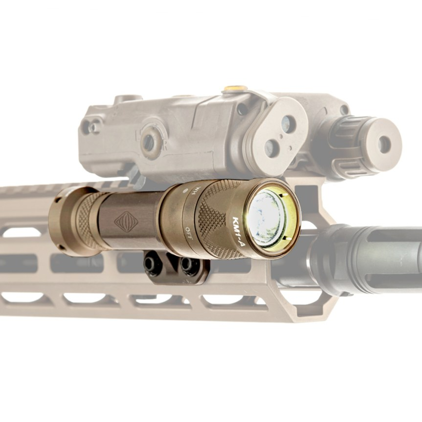 reptilia corp torch light body mlok mount light tight to rail under peq15 laser light mount 1