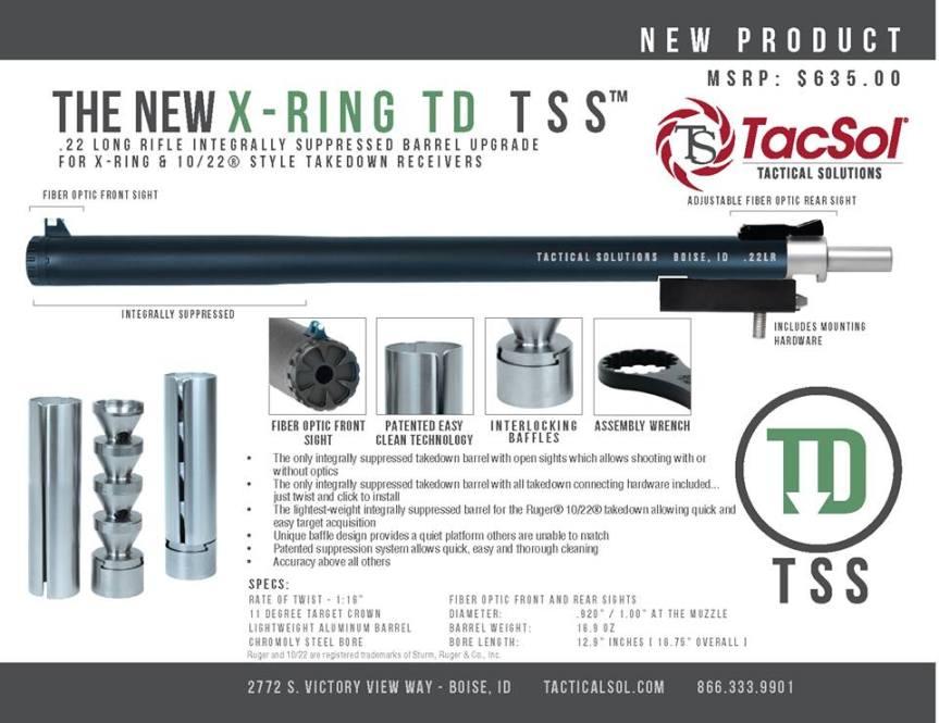 tactical solitions x-ring takedown tss integrally suppressed barrels ruger 10 22 integral suppressed barrel 22lr  1.jpg