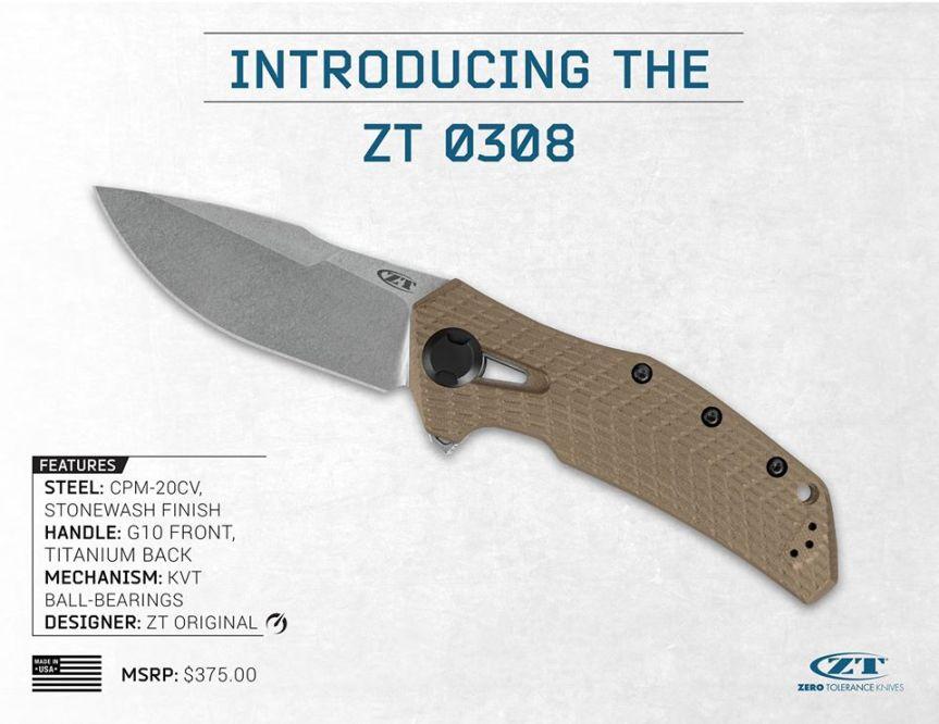 zero tolerance knives zt 0308 flipper knife cpm20cv blade  1.jpg