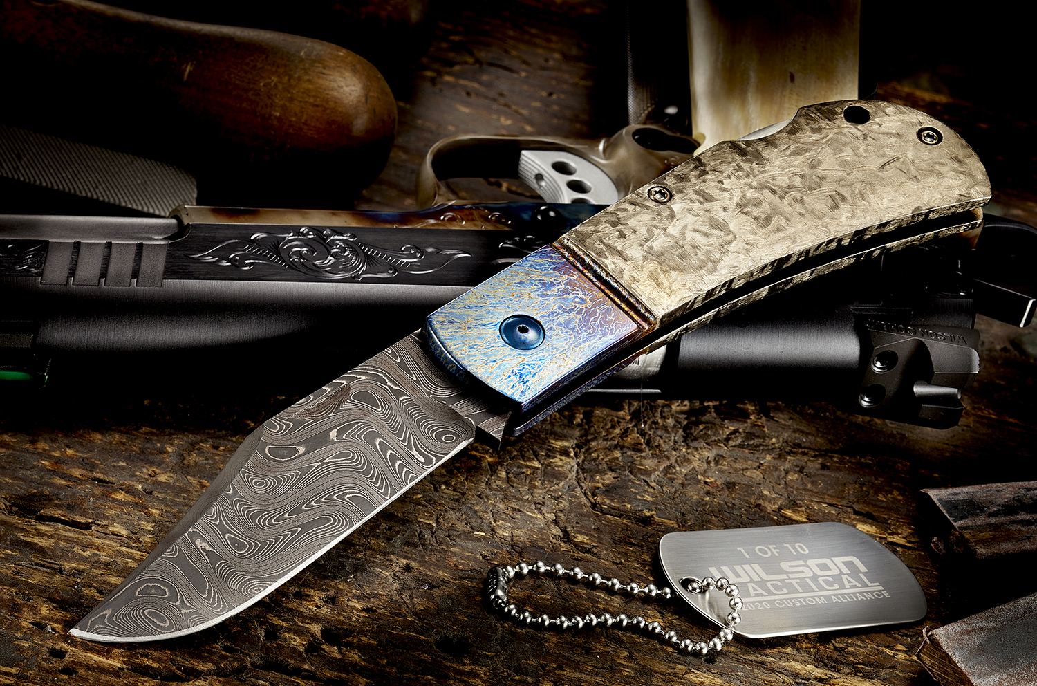 WILSON COMBAT SHOWS OFF THE CUSTOM ALLIANCE #50 DAMASCUS COMBAT CLIP KNIFE BY MICHAEL VAGNINO